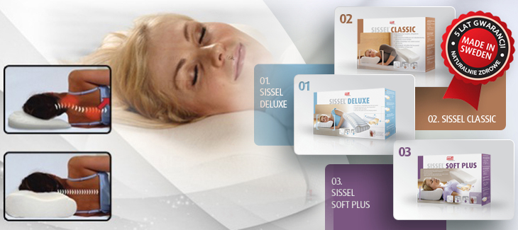 Ortopedyczne poduszki marki Sissel